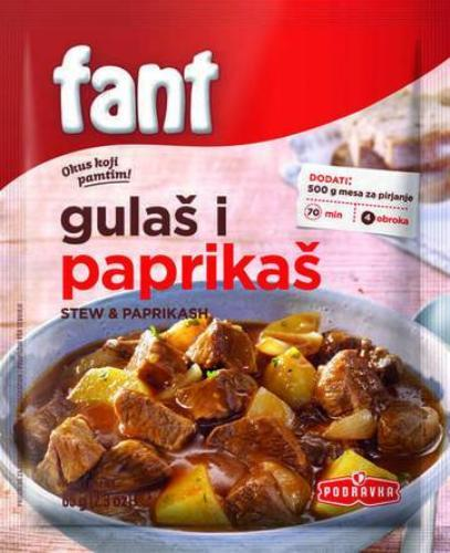 Fant Seasoning Mix for Hungarian Stew, Goulash, Paprikash,