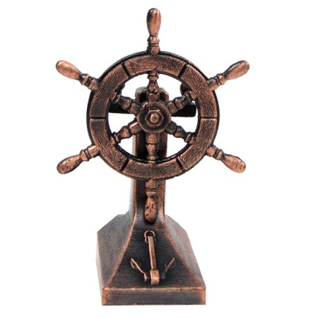 Bronze Metal Ships Helm Ship Wheel Miniature Replica Die Cast Pencil Sharpener - Ship Helm