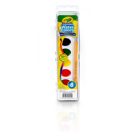 Watercolor Paints (Crayola Watercolor Paint, Kids Painting Supplies, 8)