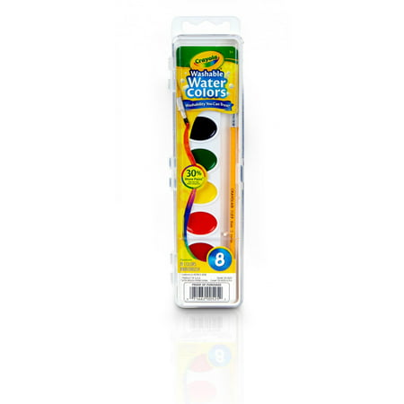 Crayola Watercolor Paint, Kids Painting Supplies, 8 Count ()