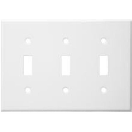 Stainless Steel Metal Wall Plates 3 Gang Toggle Switch