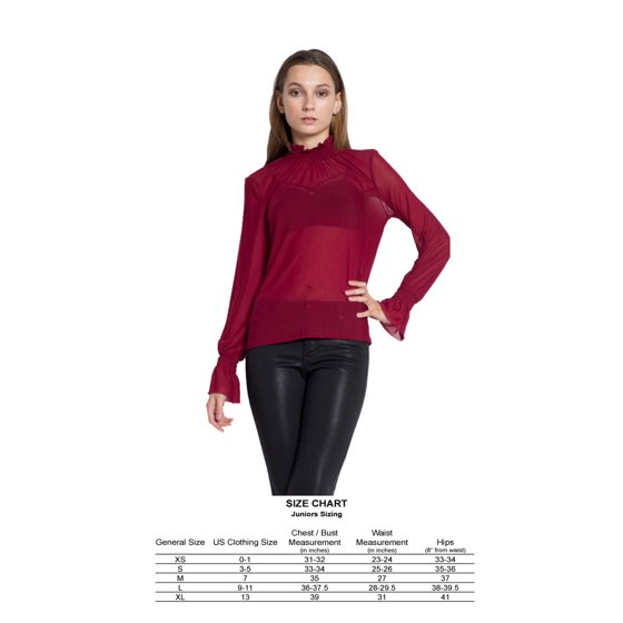 5a5cd4e62fe125 OFASHIONUSA - OFASHIONUSA Women s Sheer Sheer Mesh Long Sleeve Top Blouse  (Burgundy