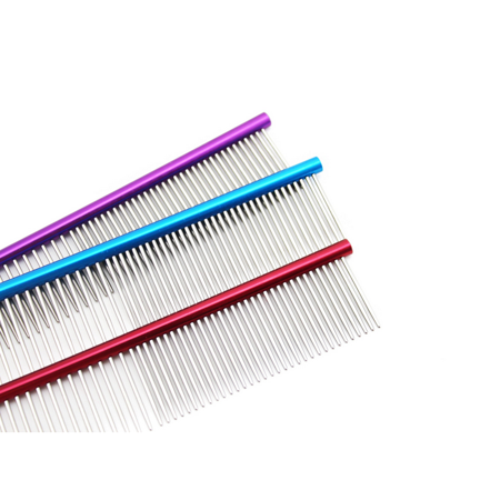 - 16cm High Quality Pet Comb Professional Steel Grooming Comb Cleaning Brush