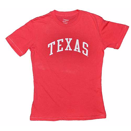 Texas Longhorns T-shirt - Ladies By League - Bubble Gum