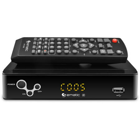 Ematic AT103B Digital Converter Box with LED Display and Recording