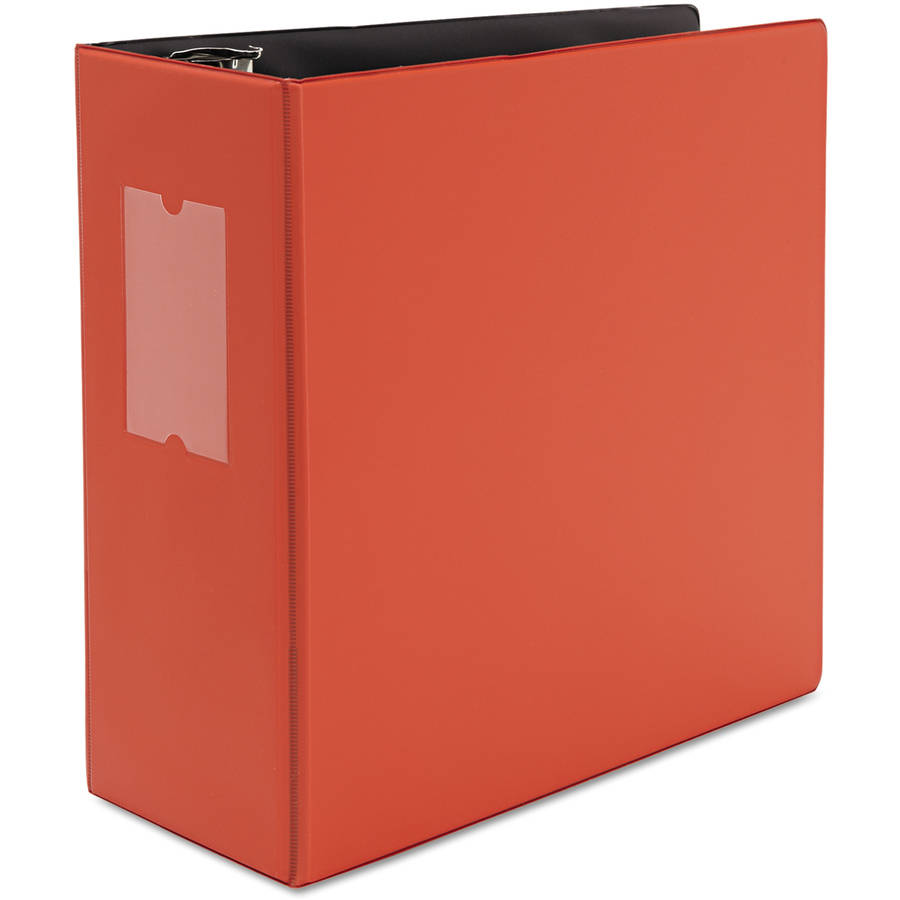 """Universal One D-Ring Binder, 5"""" Capacity, 8-1/2"""" x 11"""", Red"""