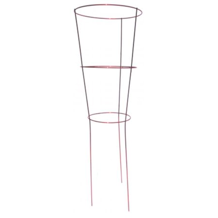 Glamos Wire 204509 14 in. X 42 in. Ruby Red Heavy Duty Plant Support Pack Of 25