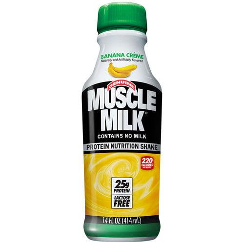 Muscle Milk Banana Creme Protein Nutrition Shake, 14 oz