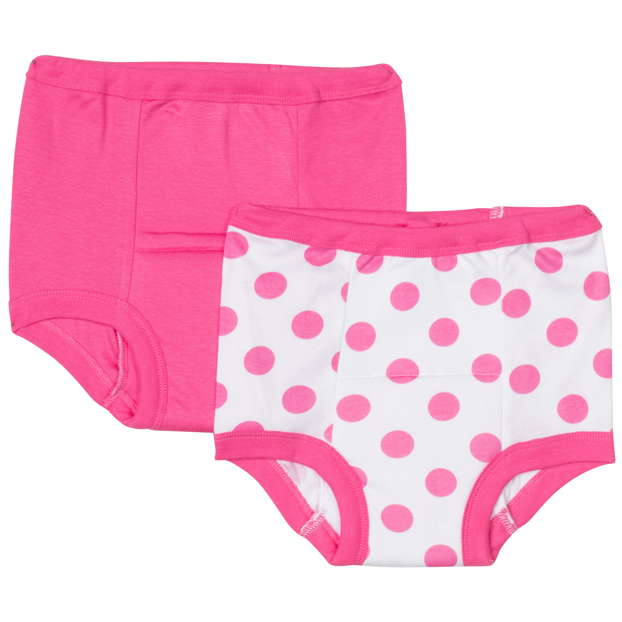 Gerber Training Pants - 2 Pack - Pink Polka Dot - 3T