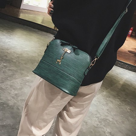 Vintage Leather Accessories (New Women Messenger Bags Vintage Small Shell Leather Handbag Casual Packet GN )