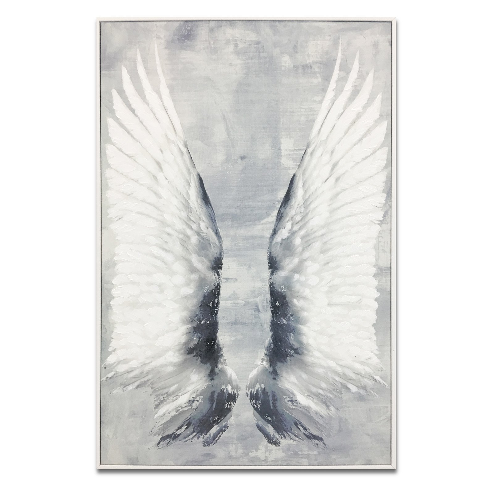 Wynwood Studio Dreaming Wings Paint Embellished Canvas Art
