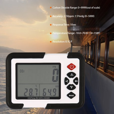 (Digital Desktop Carbon Dioxide Data logger Gas Detector Analyzer Monitor)