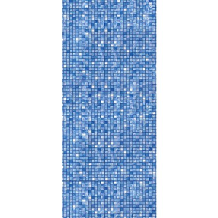 24-Foot Round Blue Cube Tile Unibead Above Ground Swimming Pool Liner - 48-Inch Wall Height - 25