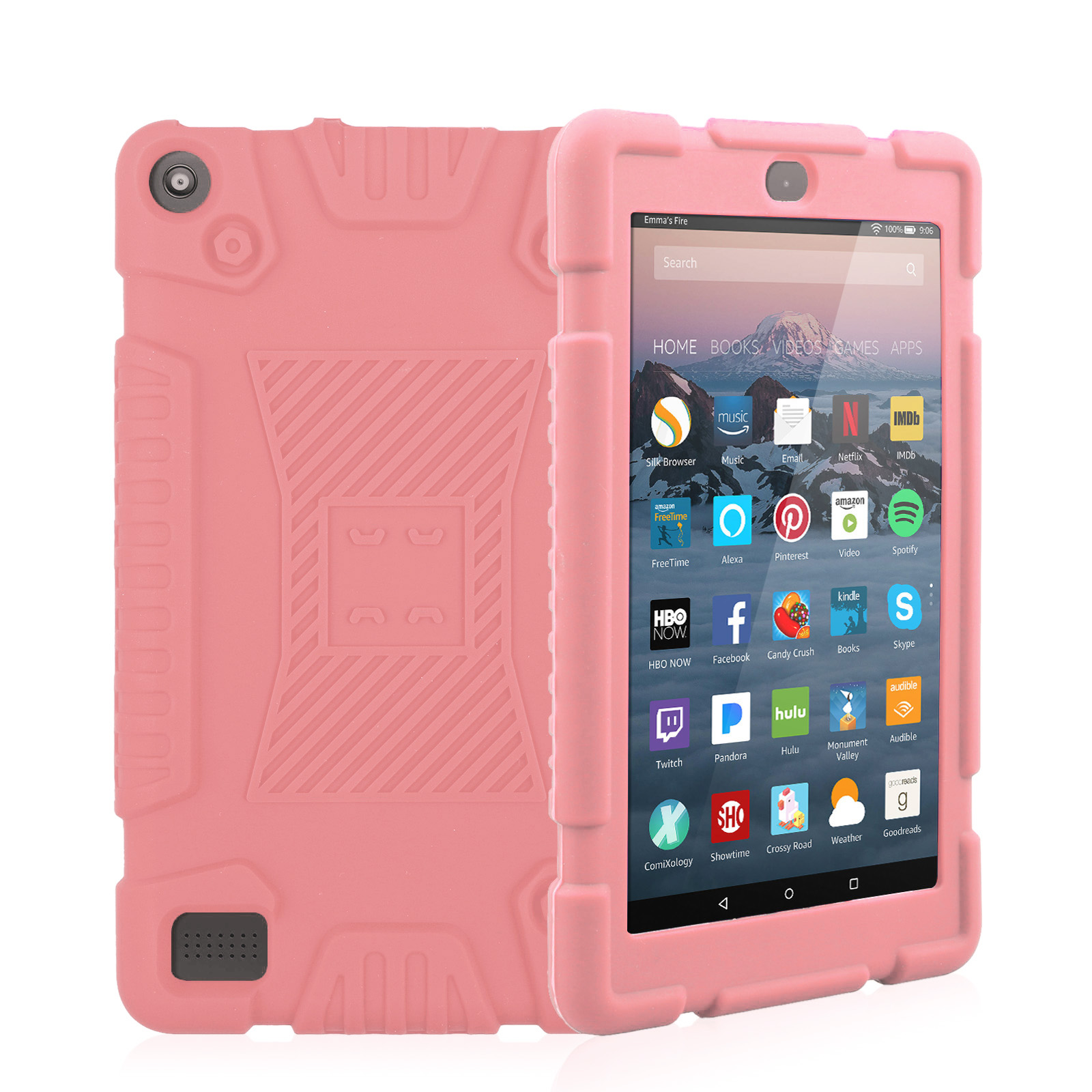 TSV Shockproof Soft Silicone Rugged Case Cover for Amazon Kindle Fire 7 2017 7th Gen
