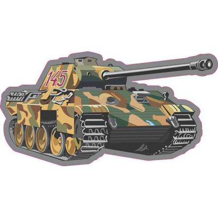 5in x 2.5in Military Tank Bumper Sticker Decal Car Window Stickers Decals