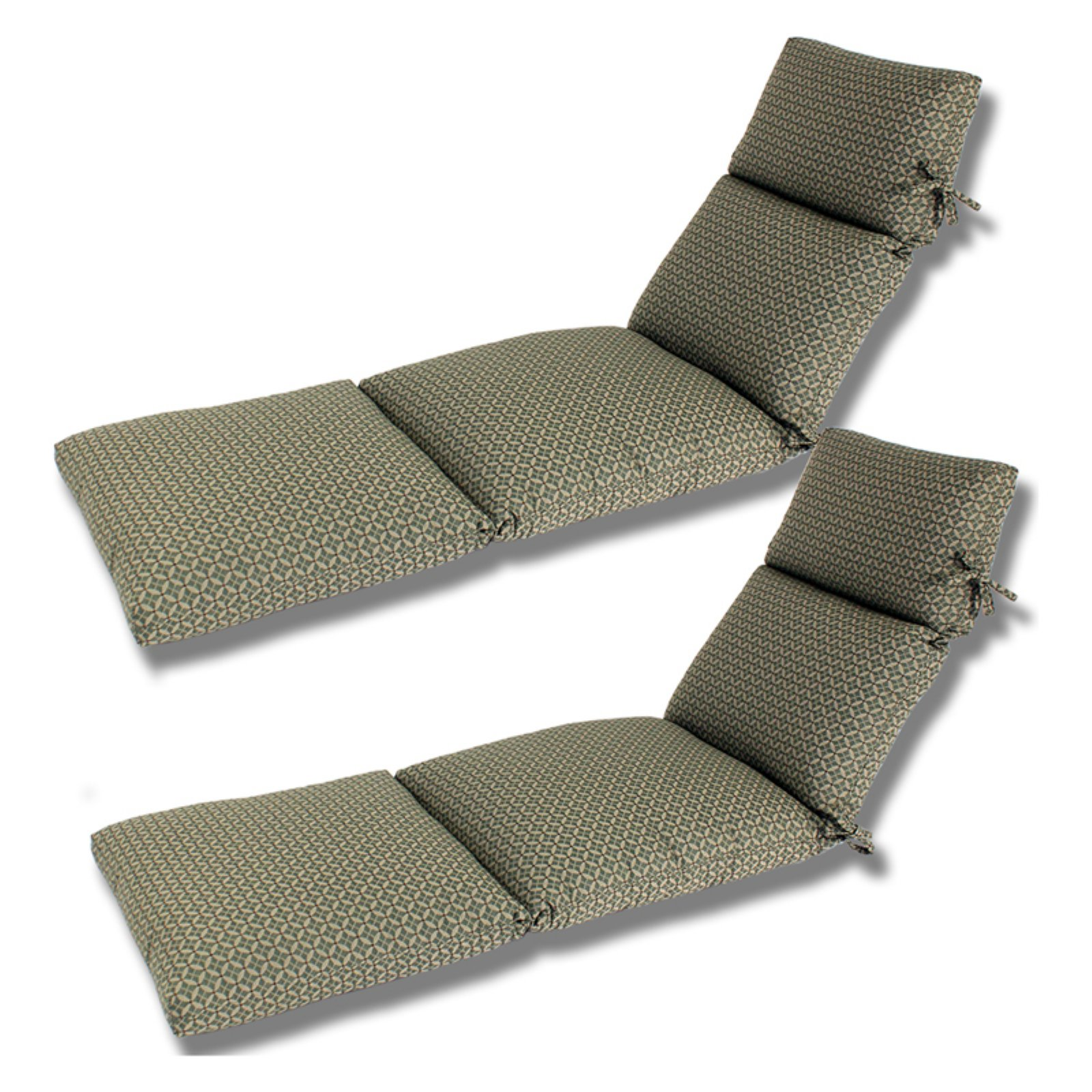 Comfort Classic Channeled Indoor Outdoor Sunbrella Chaise Lounge Cushion Set Of 2