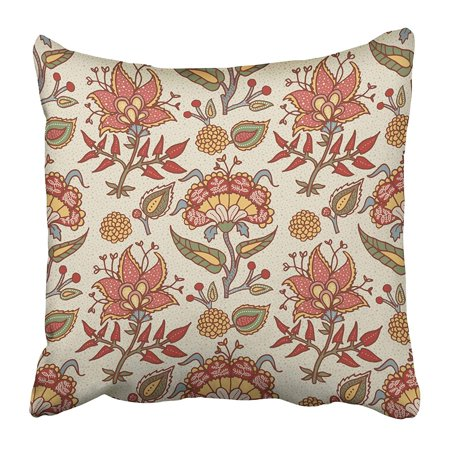 (ARHOME National Paisley for Cotton Linen Fabrics Tribal Flowers Bohemian for Taps Pillow Case Cushion Cover 16x16 inch)