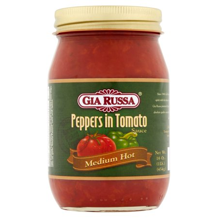 Rtu Hot Pepper - (6 Pack) Gia Russa Medium Hot Peppers in Tomato Sauce, 16 oz