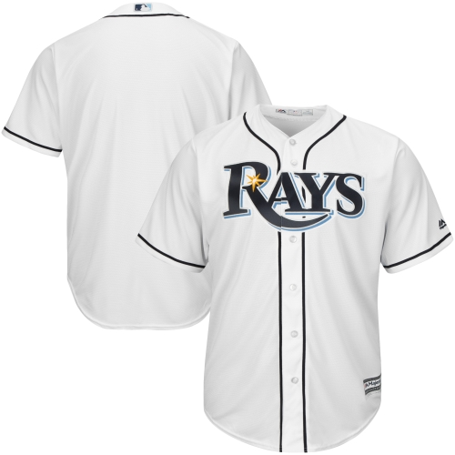 Tampa Bay Rays Majestic Official Cool Base Jersey - White