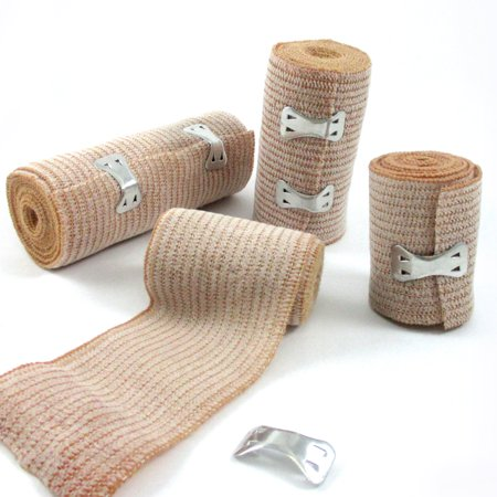 """4 PC Combo Pack Elastic Bandages 2x2"""" 1x3"""" 1x4"""" Wrap Ankle Wrist Foot First Aid"""