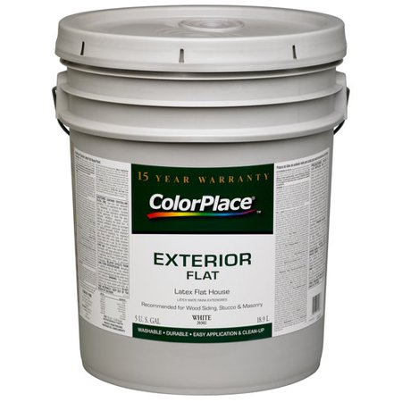 Colorplace Exterior Flat Paint White