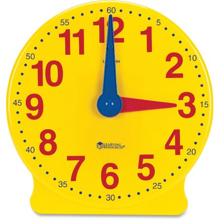 Learning Resources Learning Clock, 12-Hour Demonstration Clock - Theme/Subject: Learning - Skill Learning: Cognitive - Pro Series Clock