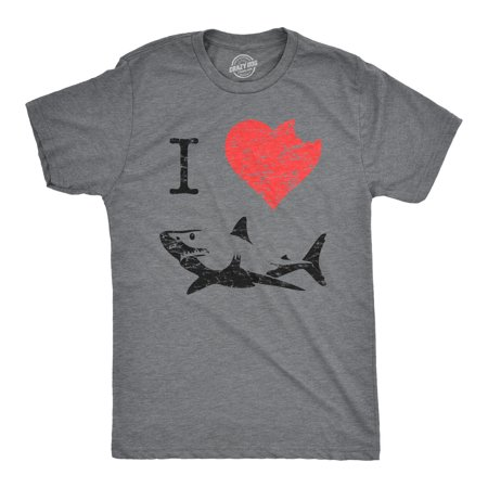 I Love Sharks T Shirt Heart Classic Shark Bite Ocean Great White Tee (Shark Xxl)