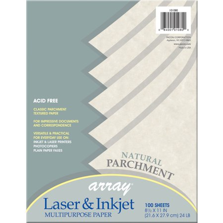 Pacon, PAC101080, Parchment Bond Paper, 100 / Pack, Natural