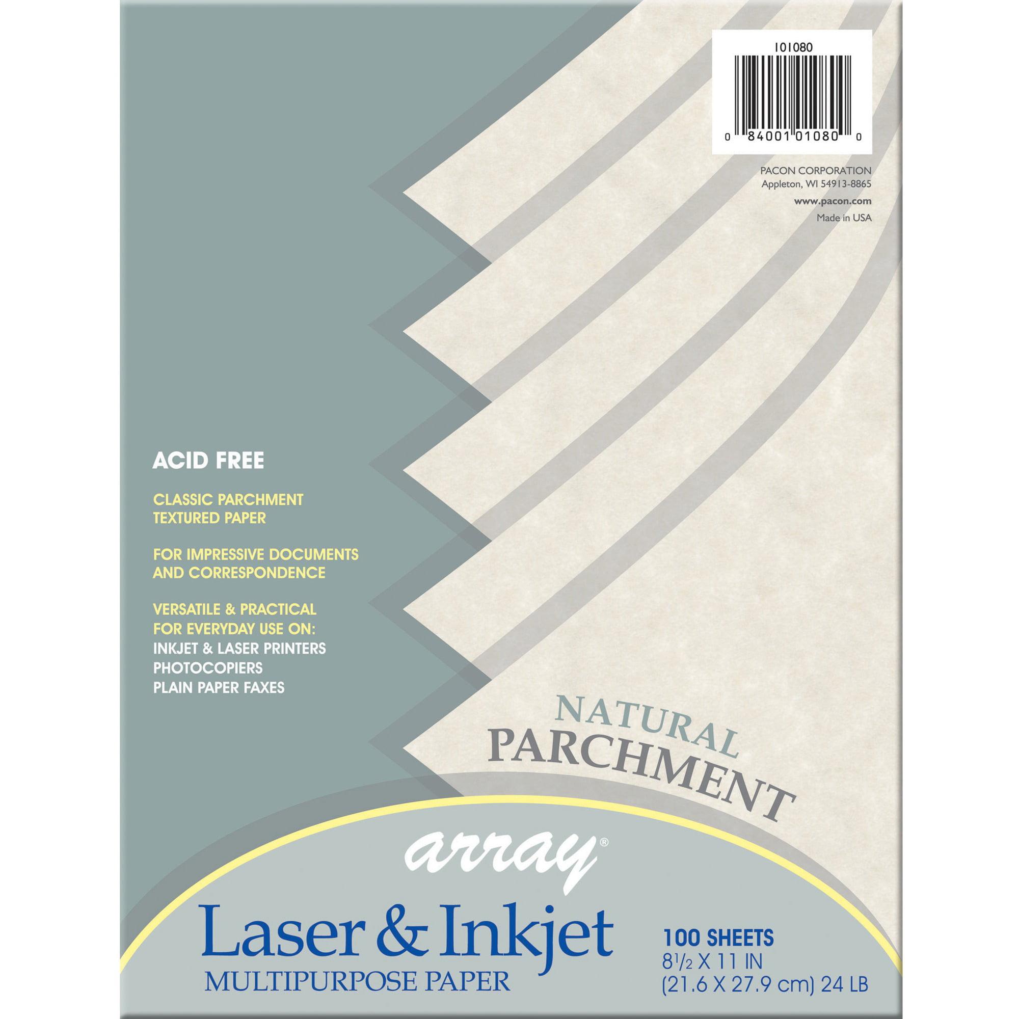 Pacon, PAC101080, Parchment Bond Paper, 100 / Pack, Natural
