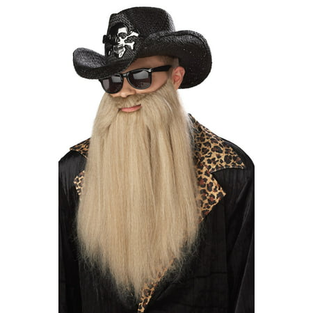 80's Blues Rocker Beard with (Womens 80's Halloween Costume Ideas)