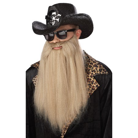 80's Blues Rocker Beard with Moustache - 80s Punk Rocker Costume