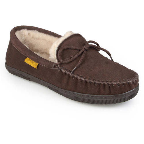 Daxx Men's Moccasin Sheepskin Slippers