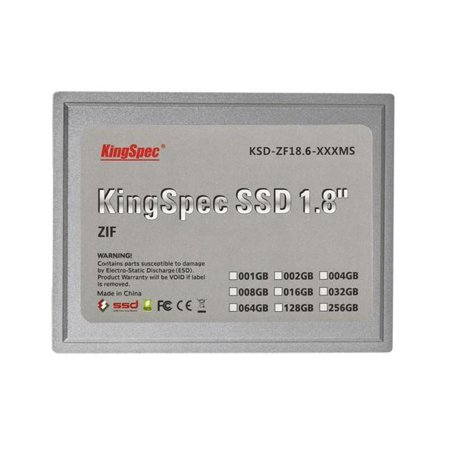 1.8 Inch Mini Hard Drive - 128GB KingSpec 1.8-inch ZIF 40-pin SSD Solid State Disk SMI Controller (MLC)