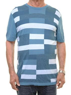 d8a8a60c Product Image Alfani Men's Alfani Men's Silk Blend Round Neck Salty Sea T-Shirt  Size L