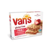 (6 Pack) Van's PB&J Sandwich Bars Strawberry and Peanut Butter - 5 CT