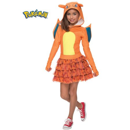 Pokemon Charizard Girl Costume S (4-6) - Charizard Pokemon Costume