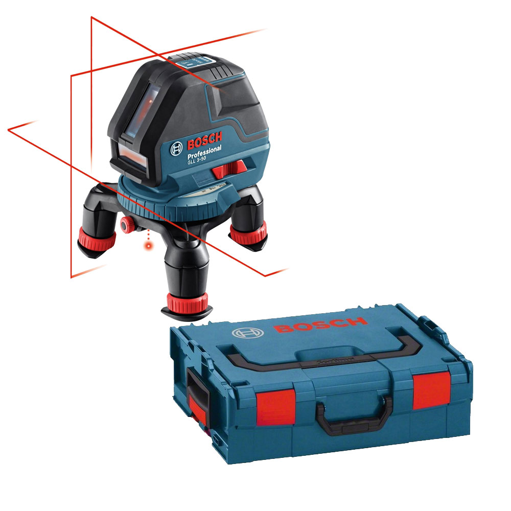 Three Line Laser with Layout Beam w  L-Boxx Open Box by Bosch Tools