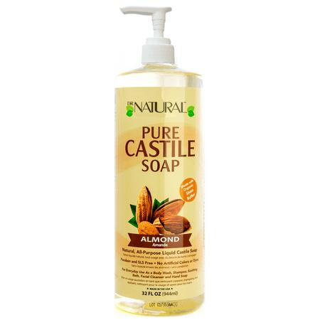 Dr. Natural Pure Castile Liquid Soap, Almond, 32