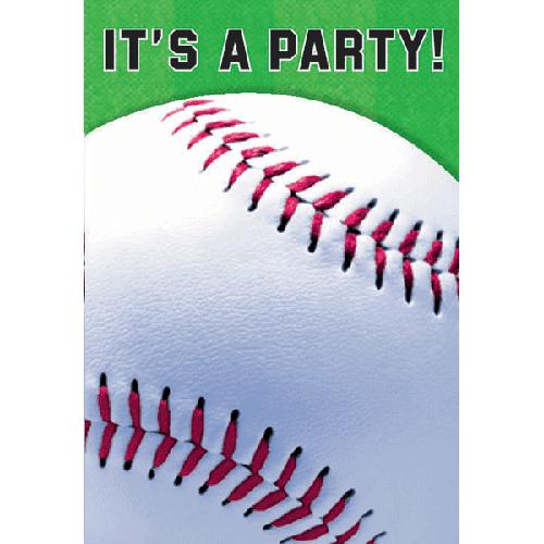 Baseball Invitations w/ Envelopes (8ct)