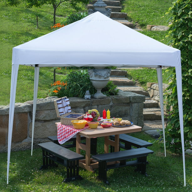 10x10 Ft Patio Tent Gazebo Clearance Urhomepro Steel Frame Wedding Party Tent Folding Outdoor Wedding Tent With Carry Bag Tents For Party Portable Canopy Tent For Garden Camping Bbq White W9725