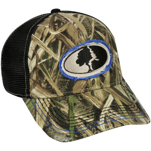 Mossy Oak Mesh Back Cap, Mossy Oak Shadowgrass Blades Camo, Flexible Fitted