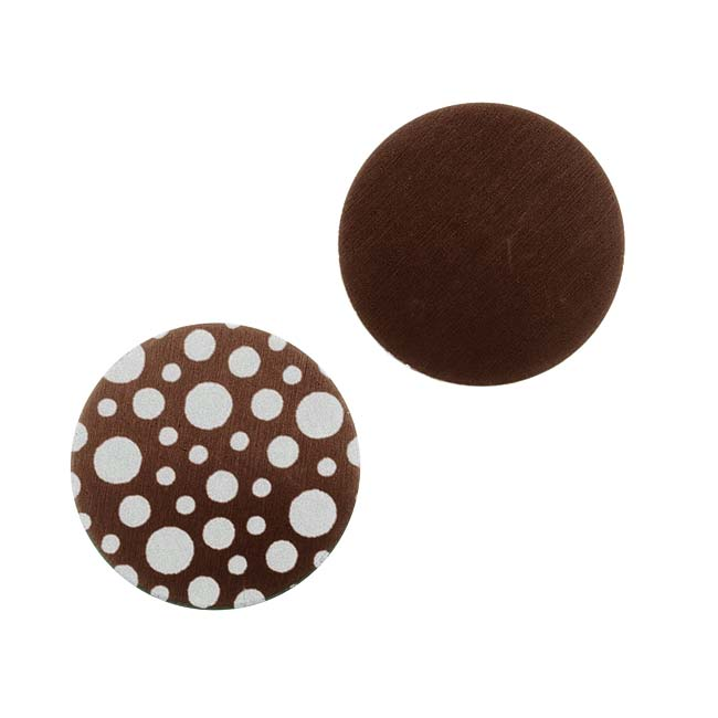 Lillypilly Aluminum Circle Stamping Brown W/ Bubble Pattern 19mm (2)
