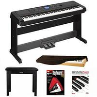 Yamaha DGX660B 88 Key Grand Digital Piano Bundle with Yamaha LP7A 3 Pedal Unit ,Knox Bench,Dust Cover and Book/DVD