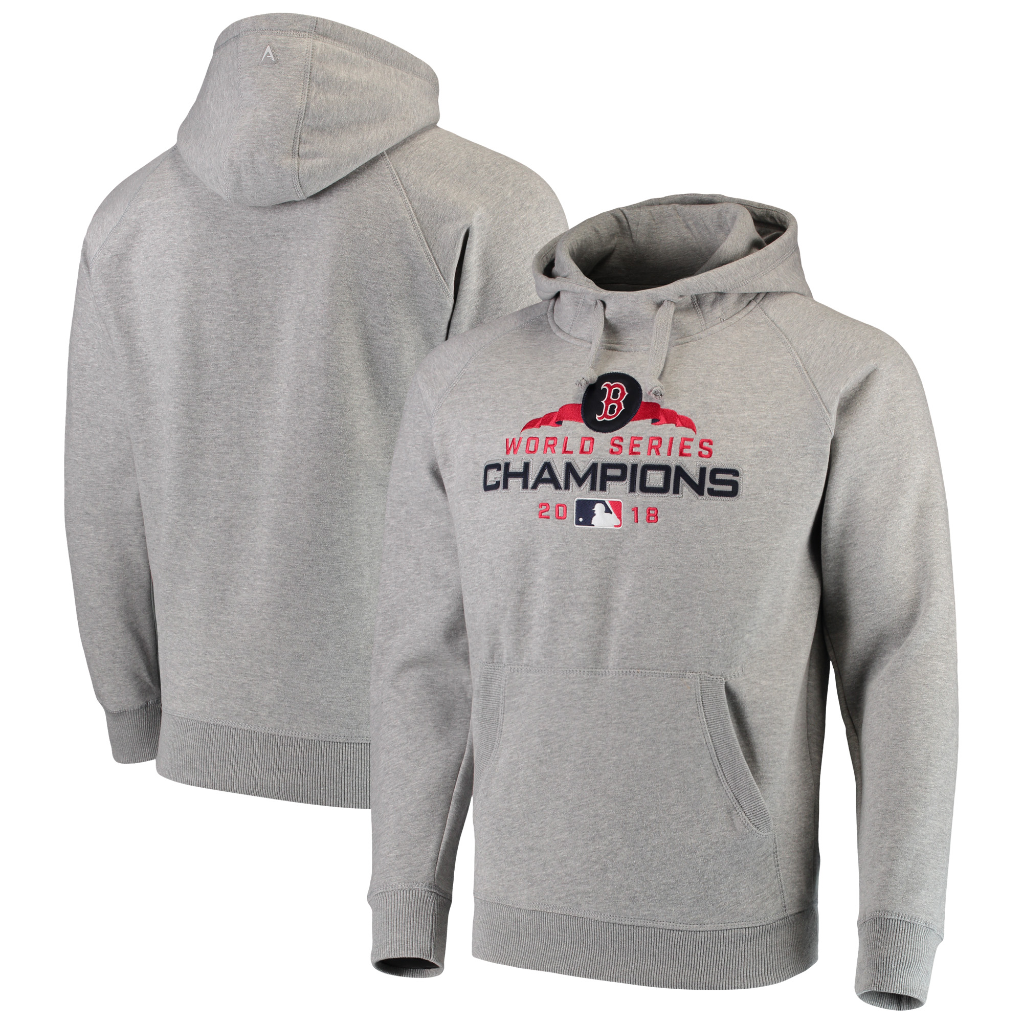Boston Red Sox Antigua 2018 World Series Champions Victory Pullover Hoodie - Gray