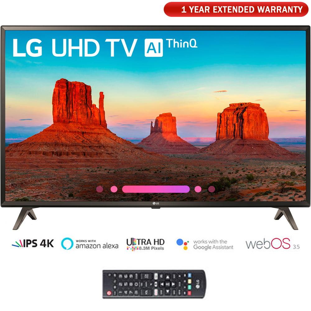 "LG 55UK6300 55"" UK6300 Smart 4K UHD TV (2018) with Extended Warranty (55UK6300PUE)"