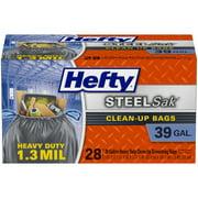 Hefty SteelSak Heavy Duty Trash Bags, 39 Gallon, 28 Count