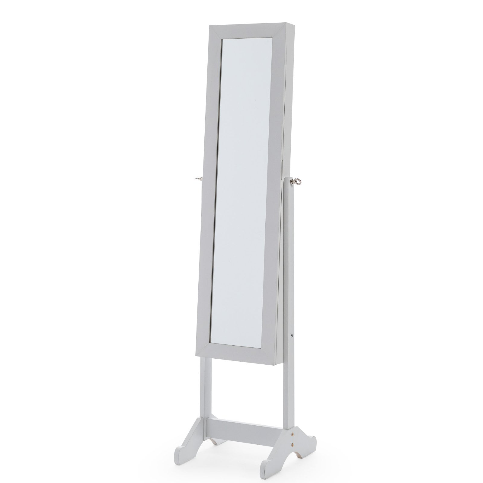 Mainstays Mirrored Cheval Jewelry Armoire - White ...