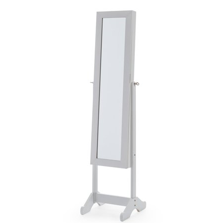 Mainstays Mirrored Cheval Jewelry Armoire - White ()