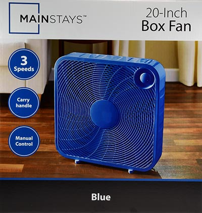 ... Blue Mainstays 20  Box Fan ... & Mainstays 20