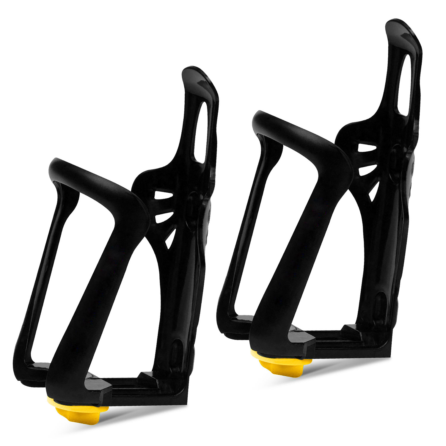 EEEKit 2 Packs Adjustable Plastic Mountain Bike Cycling Road Bicycle Water Bottle Holder Rack Cage